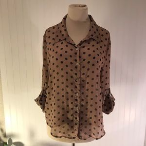 About A Girl sheer blouse